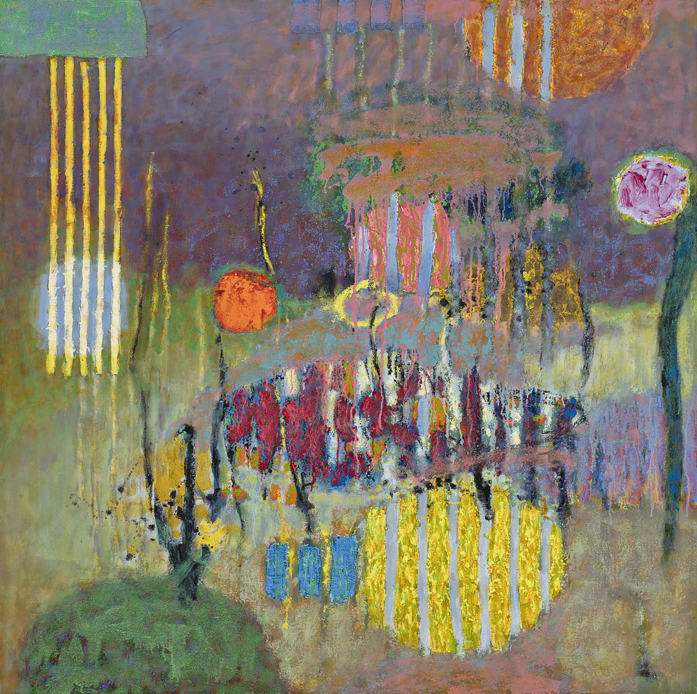 Dreaming Into Being | oil on canvas | 48 x 48"
