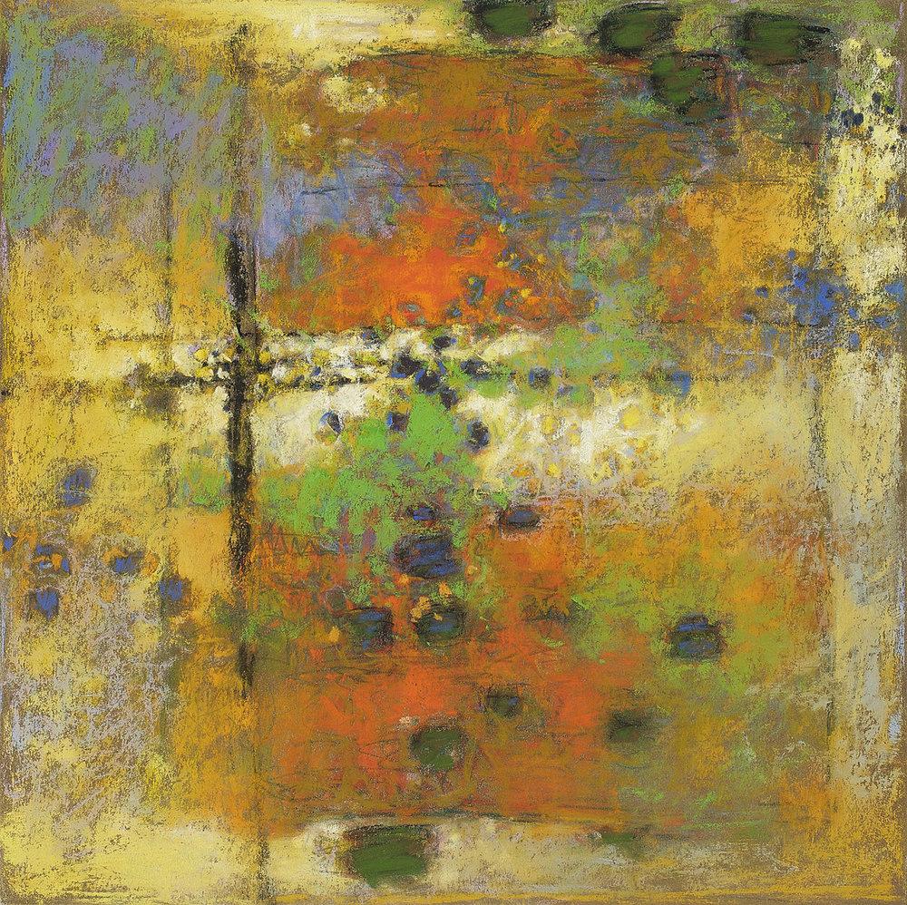 "Bioluminescence | pastel on paper | 14 x 14"" | 2010"