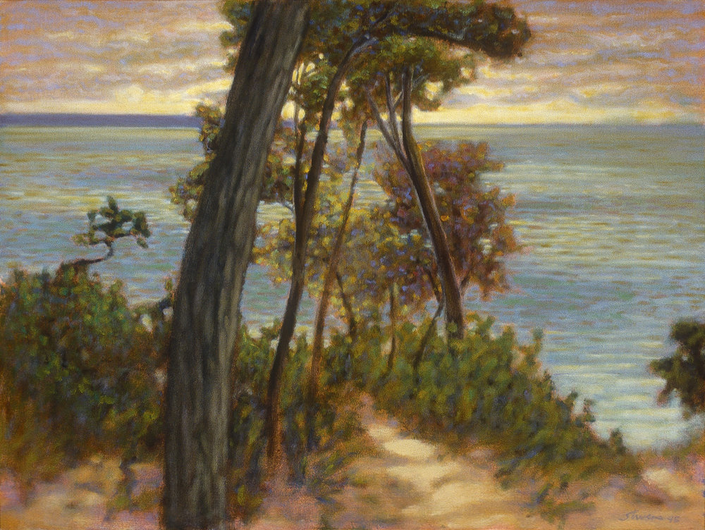 Lake Michigan Overlook | oil on canvas | 18 x 24"