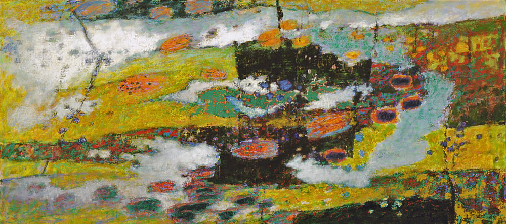 Fluctuation   | oil on canvas | 36 x 80"