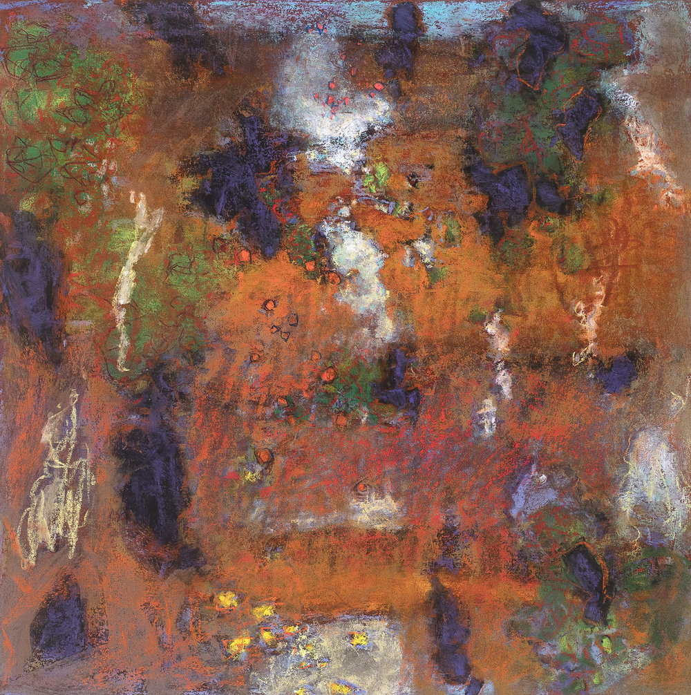 Meshwork of Interaction   | pastel on paper | 14 x 14"