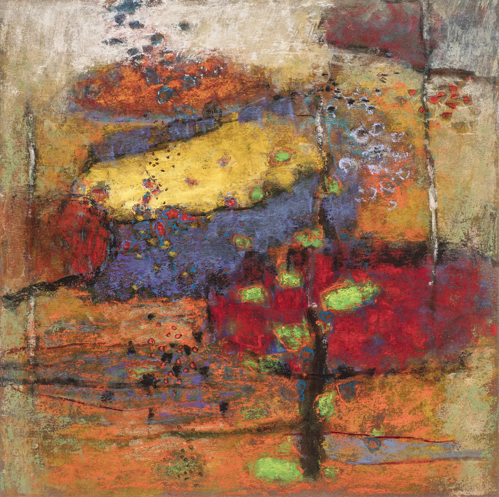 Distinct From Logic | pastel on paper | 14 x 14"