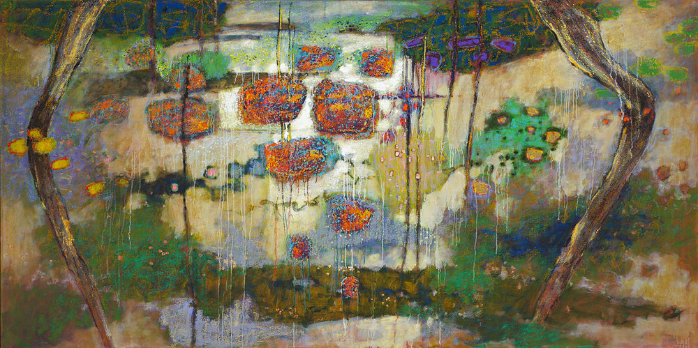 "Ulu Wehi | oil on canvas | 48 x 96"" | 2012"