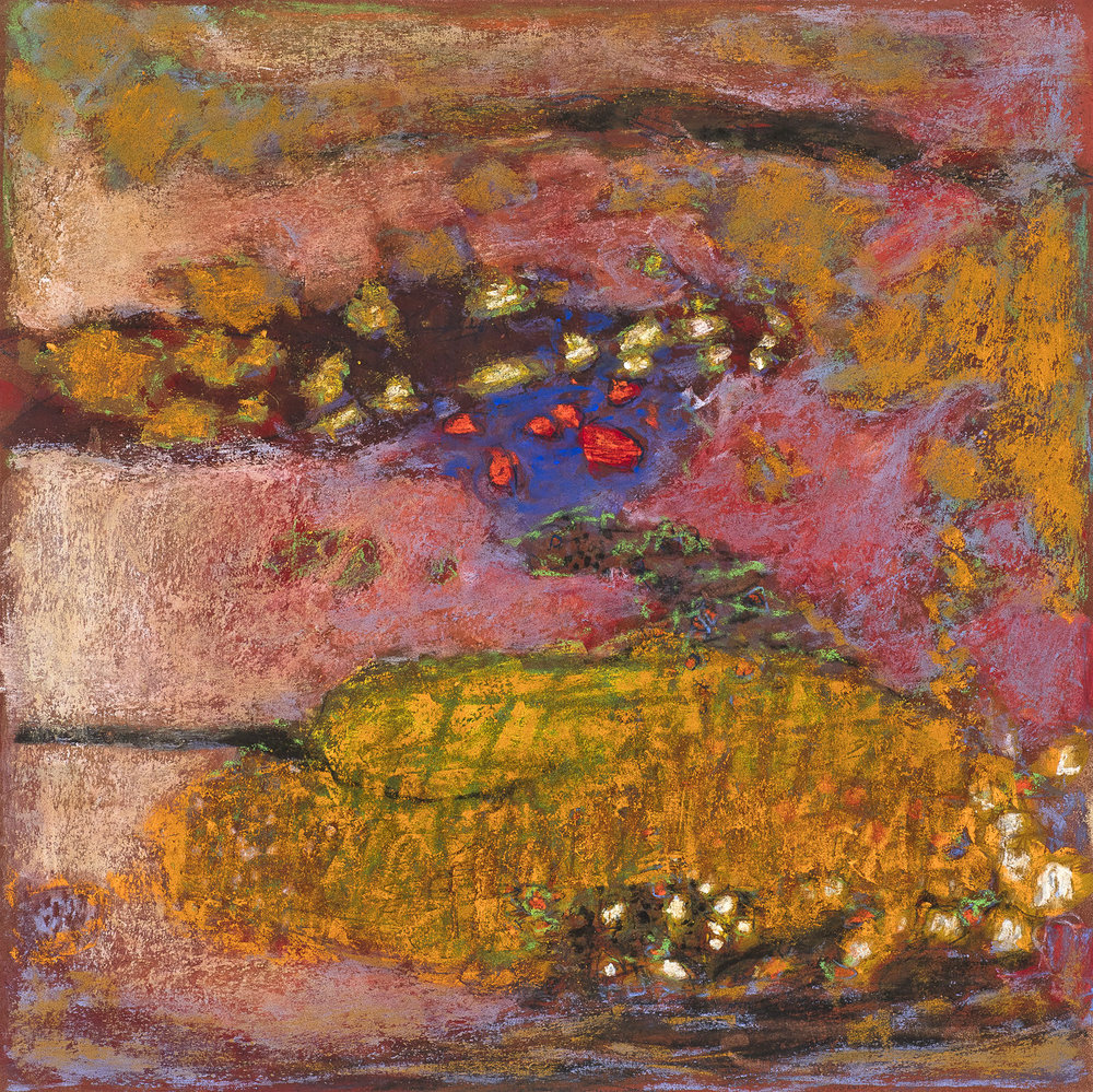 From One to Another | pastel on paper | 14 x 14"