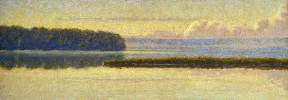 Morning on Font Lake | oil on canvas | 20 x 60"