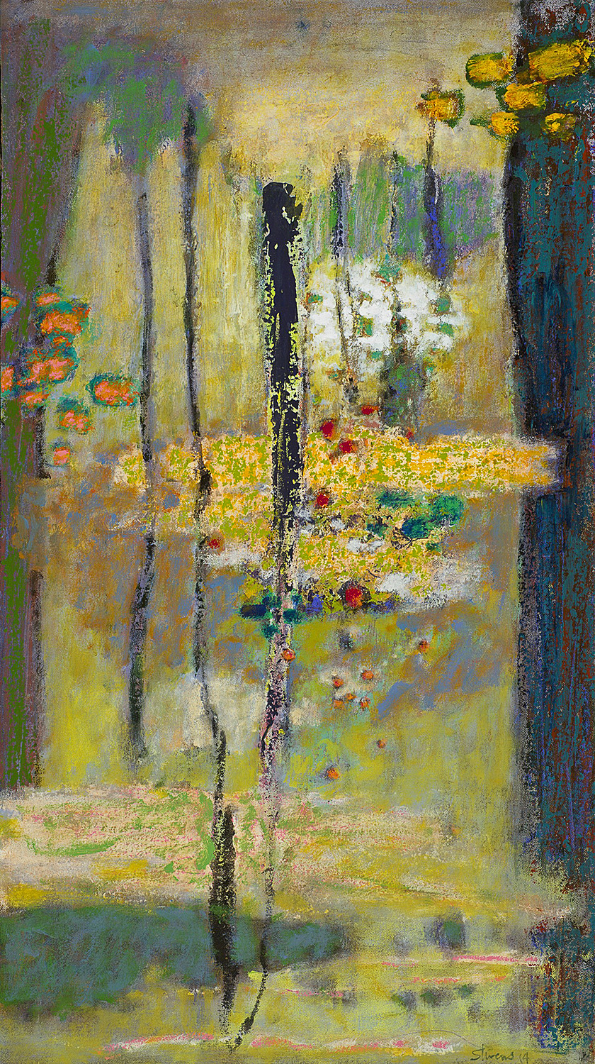 The Path Between | oil on canvas | 32 x 16"