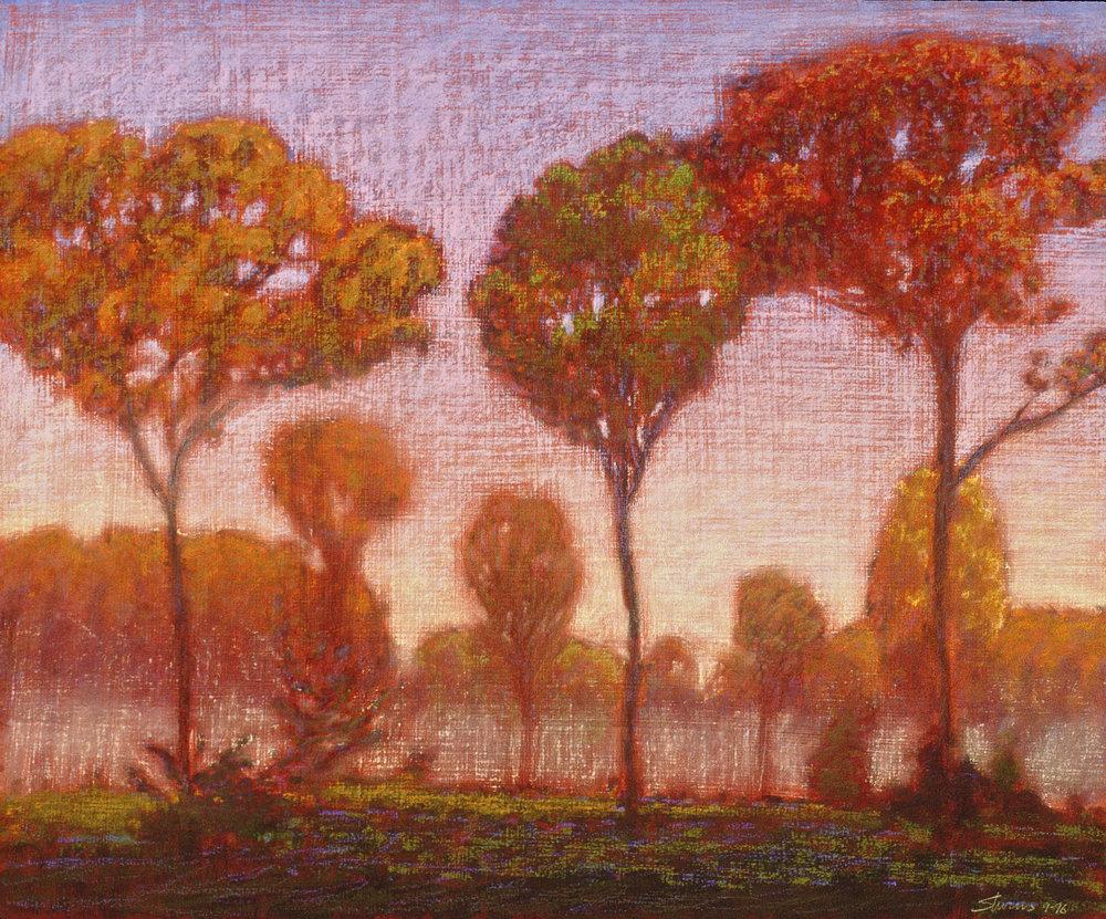 "Morning Mist II | pastel on panel | 18 x 22"" | 1996"