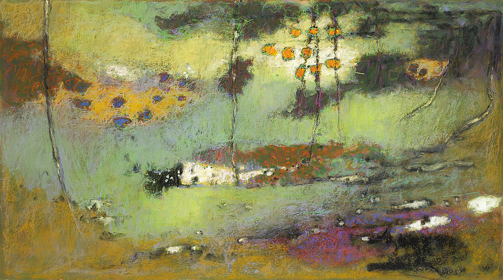 Light Reaching Everywhere   | pastel on paper | 20 x 36"