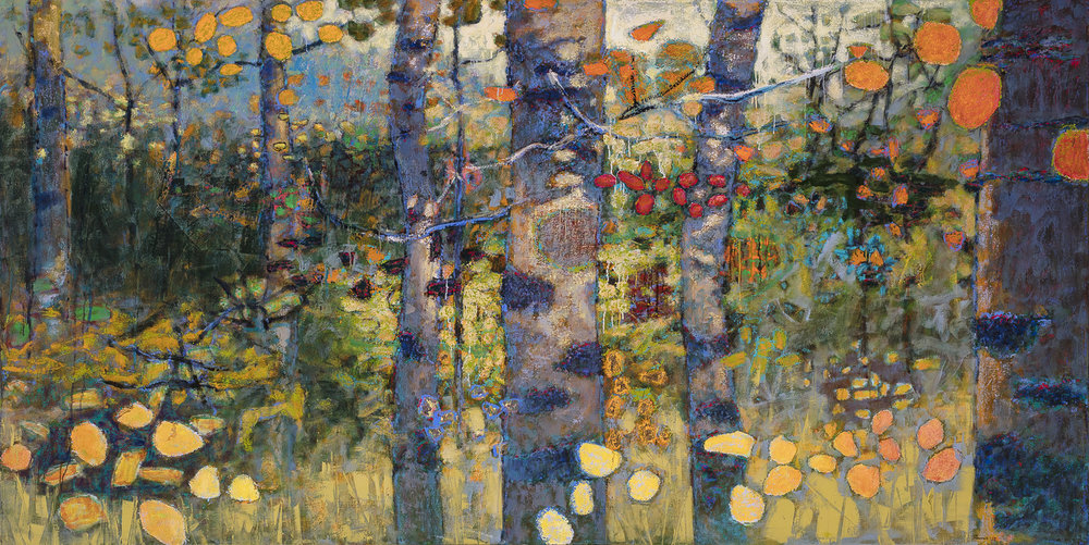 Loitering In Mystery | oil on canvas | 48 x 96"