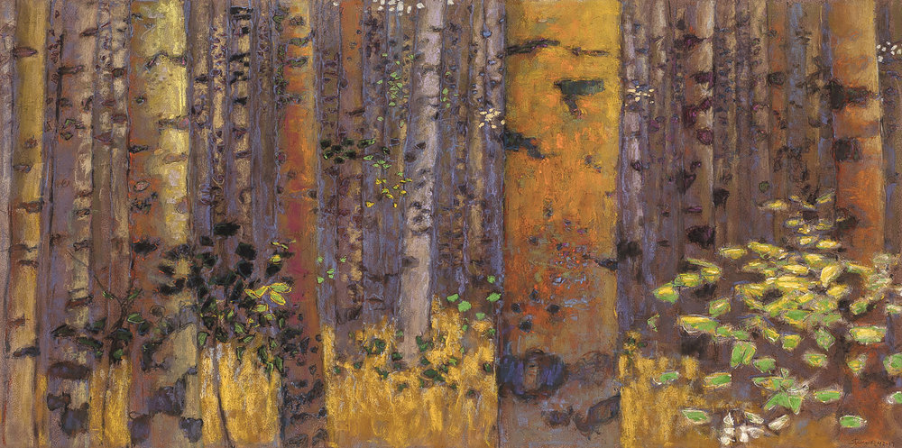 Waldeinsamkeit | pastel on paper | 20 x 40"