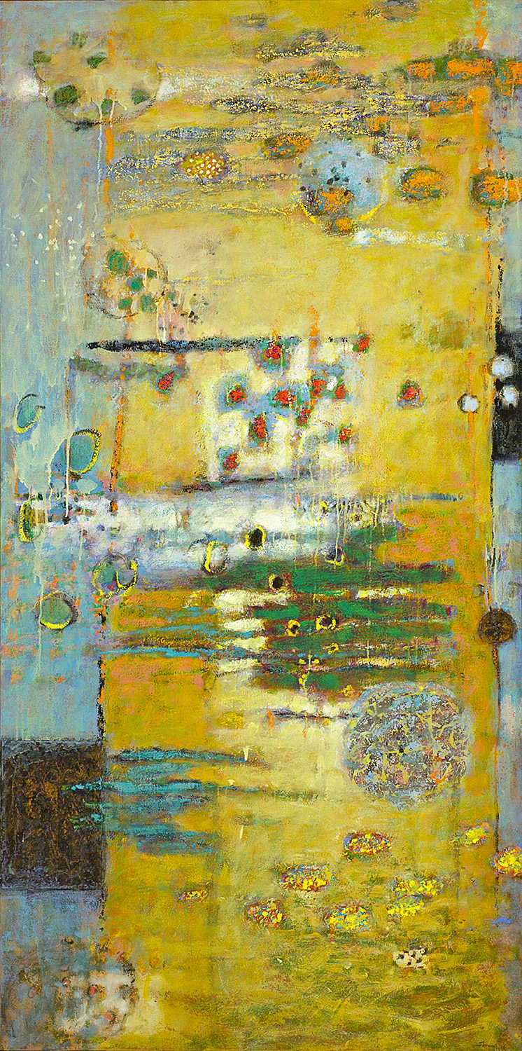 The Coding Process  | oil on canvas | 72 x 36"