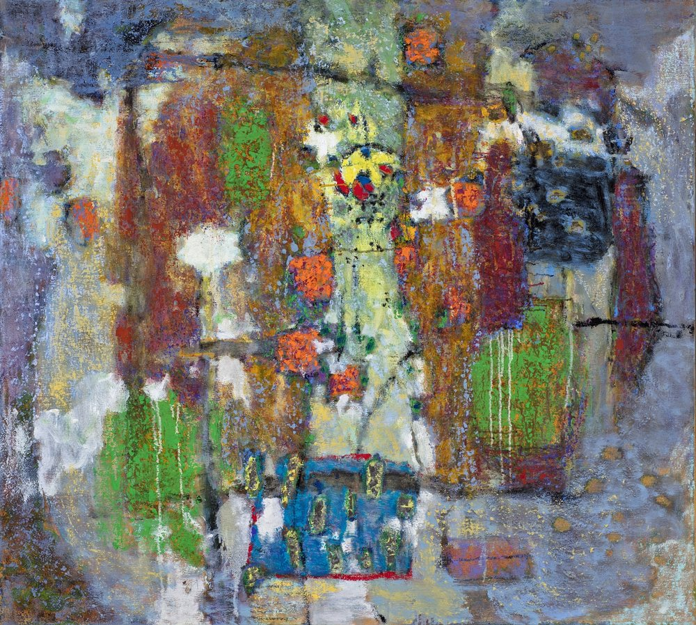 At the Entrance   | oil on canvas | 40 x 36"