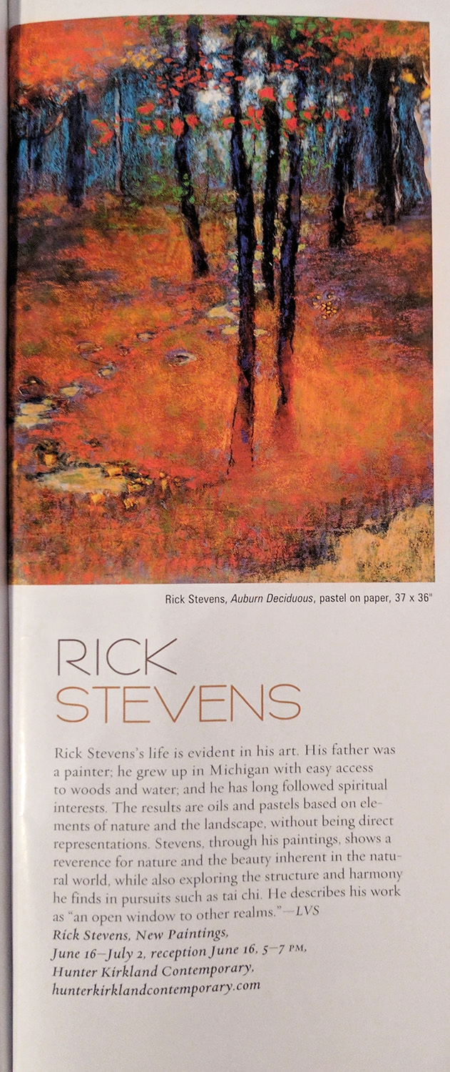 Rick's upcoming show was featured in the June/July issue of the Santa Fean on page 63