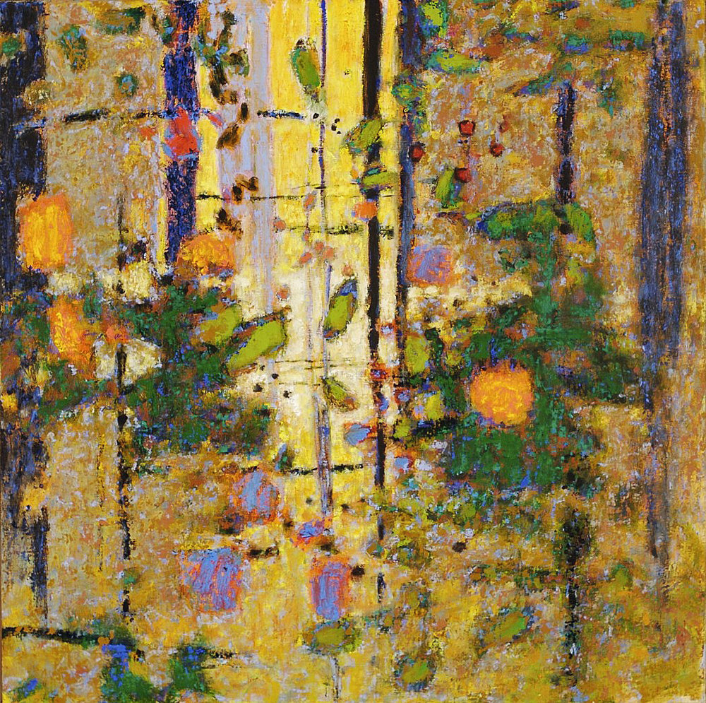 Glimmering Refuge  | oil on canvas | 28 x 28"