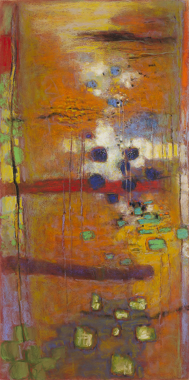 Structure of Activity  | pastel on paper | 40 x 20"