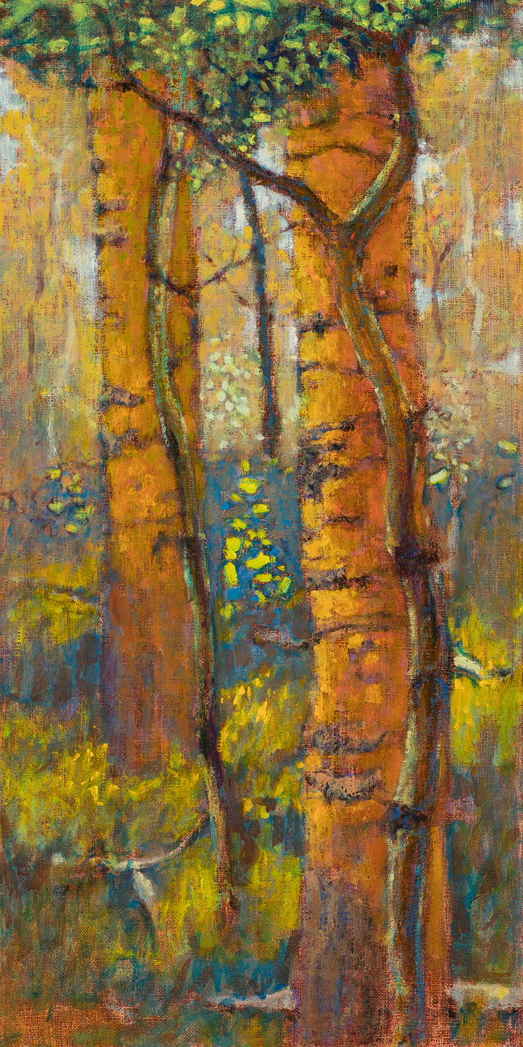 Within a Grove | oil on linen | 20 x 10""