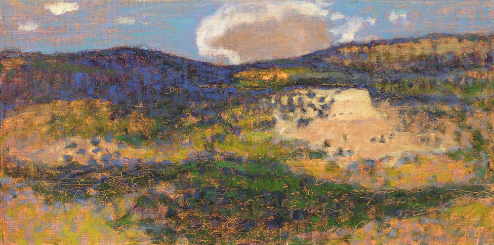 Hillside Light and Shadow  | oil on linen | 10 x 20"