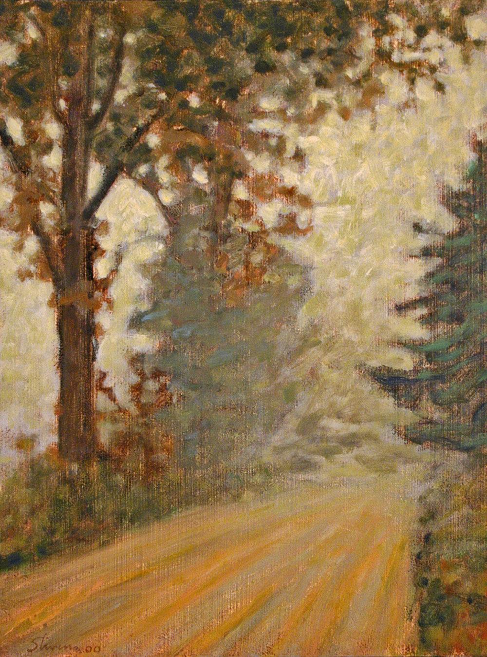 """Morning Fog    oil on linen   16 x 12""""   2000"""