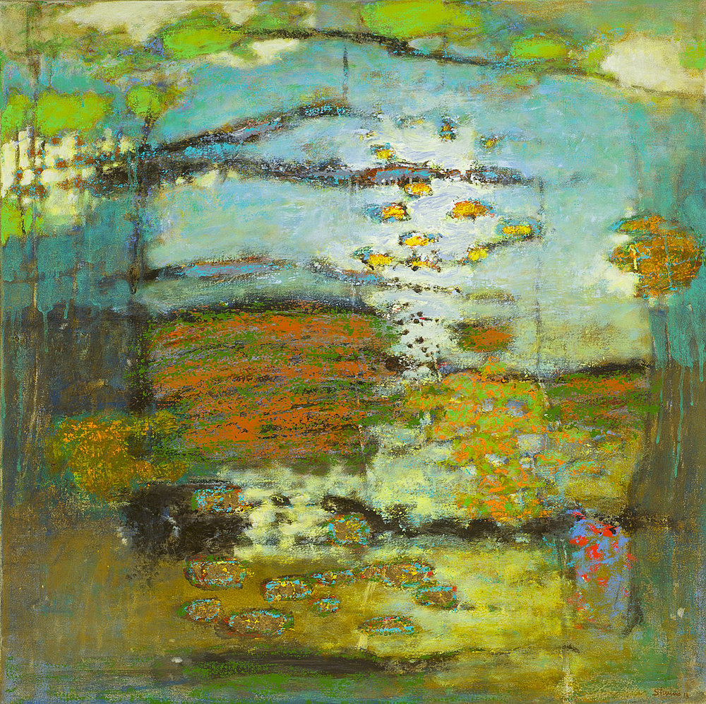 Emanating Earth and Sky  | oil on canvas | 32 x 32"