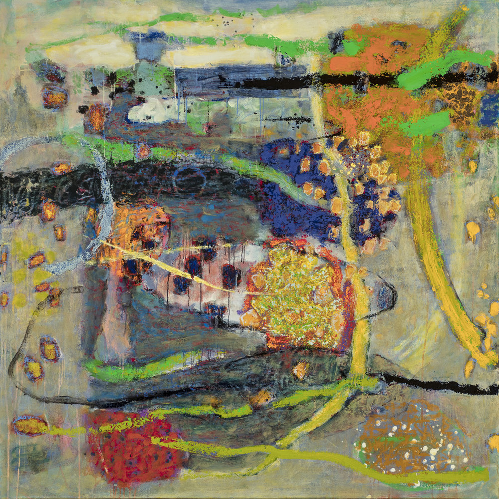 Comingling | oil on canvas | 48 x 48"