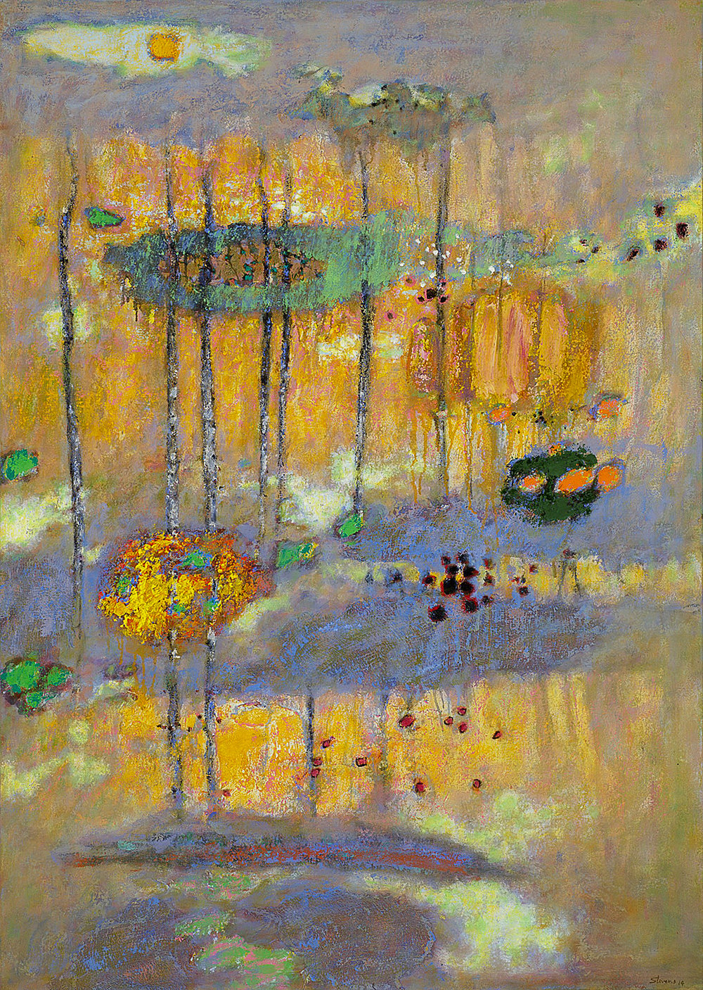 Shimmering Land  | oil on canvas | 45 x 32"