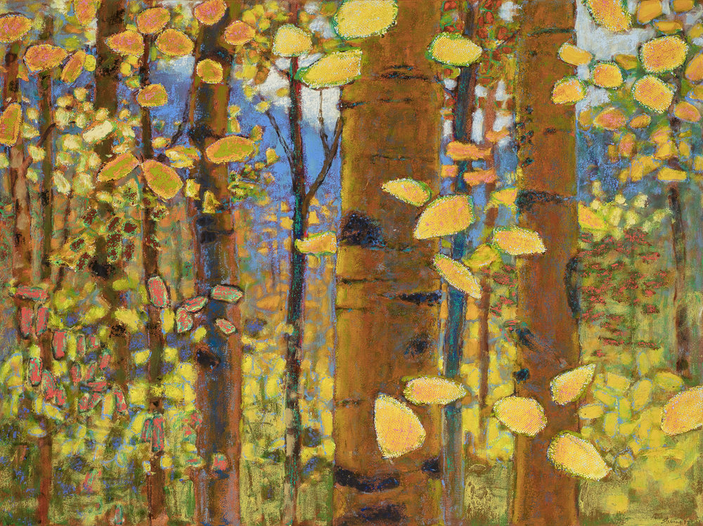 Autumnal Aspens | oil on canvas | 36 x 48""