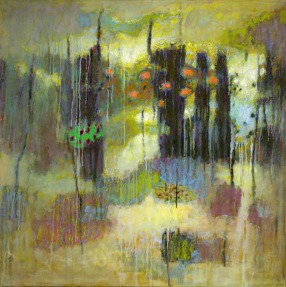 Interpenetrated by the Void  | oil on canvas | 48 x 48"