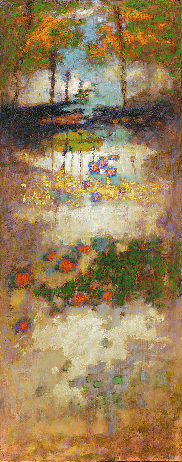 How the Light Gets In  | oil on canvas | 48 x 19"