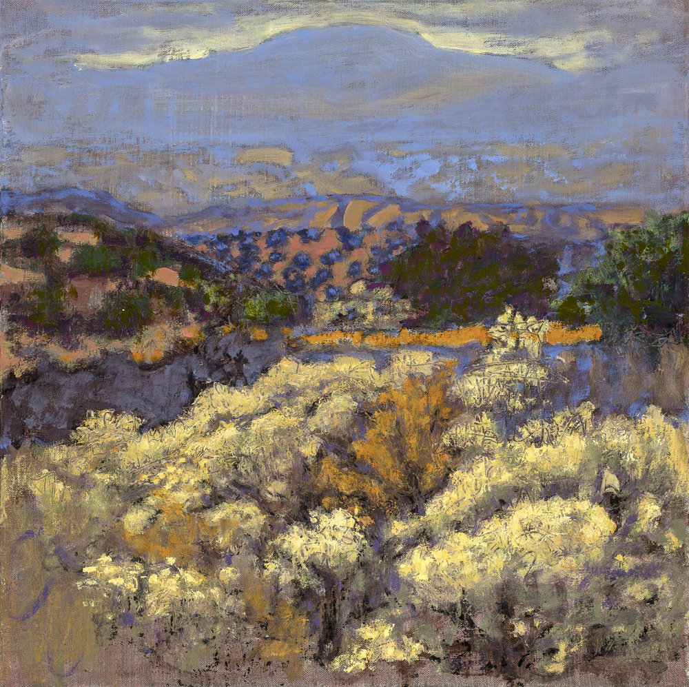 View From Arroyo  | oil on linen | 14 x 14"