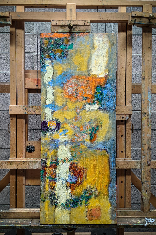 oil on canvas in progress at studio in Santa Fe, NM