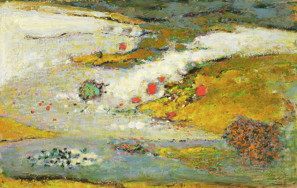 Ocean of Space  | oil on canvas | 19 x 30"
