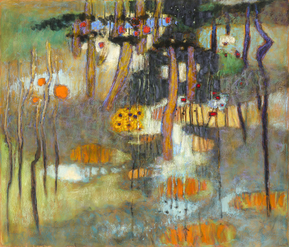 Penetrating Into Infinite Multiplicities  | pastel on paper | 30 x 35"