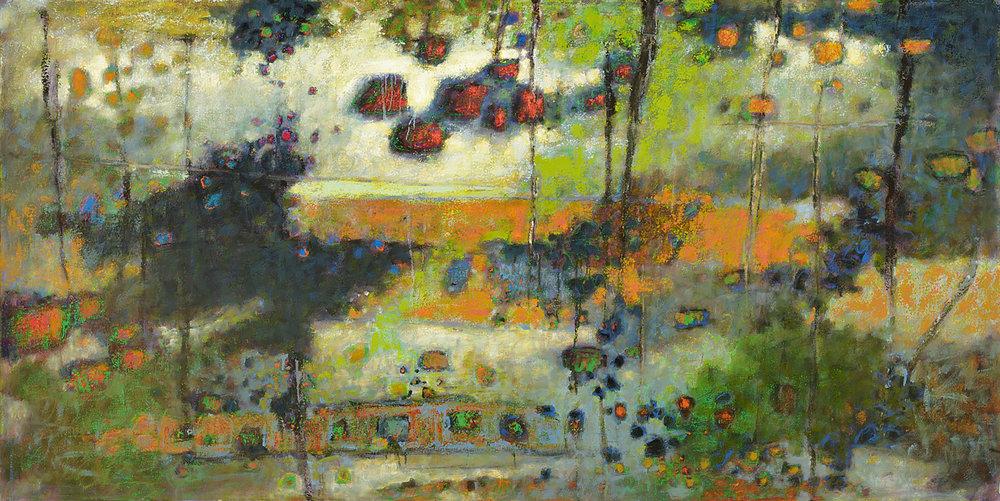 "Threshold  | oil on canvas | 48 x 96"" | 2010"