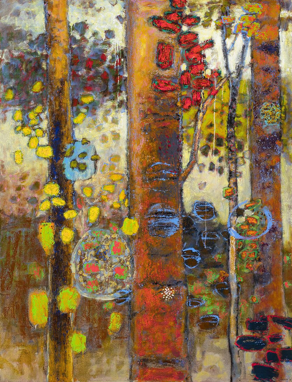 """Exuberant Exchange   oil on canvas   52 x 40"""""""