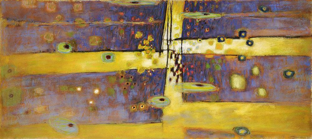 "Spaces Between   | pastel on paper | 18 x 40"" | 2007"