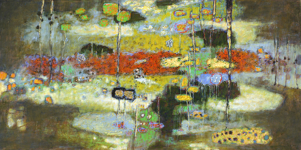 Unfolding Force   | oil on canvas | 48 x 96"