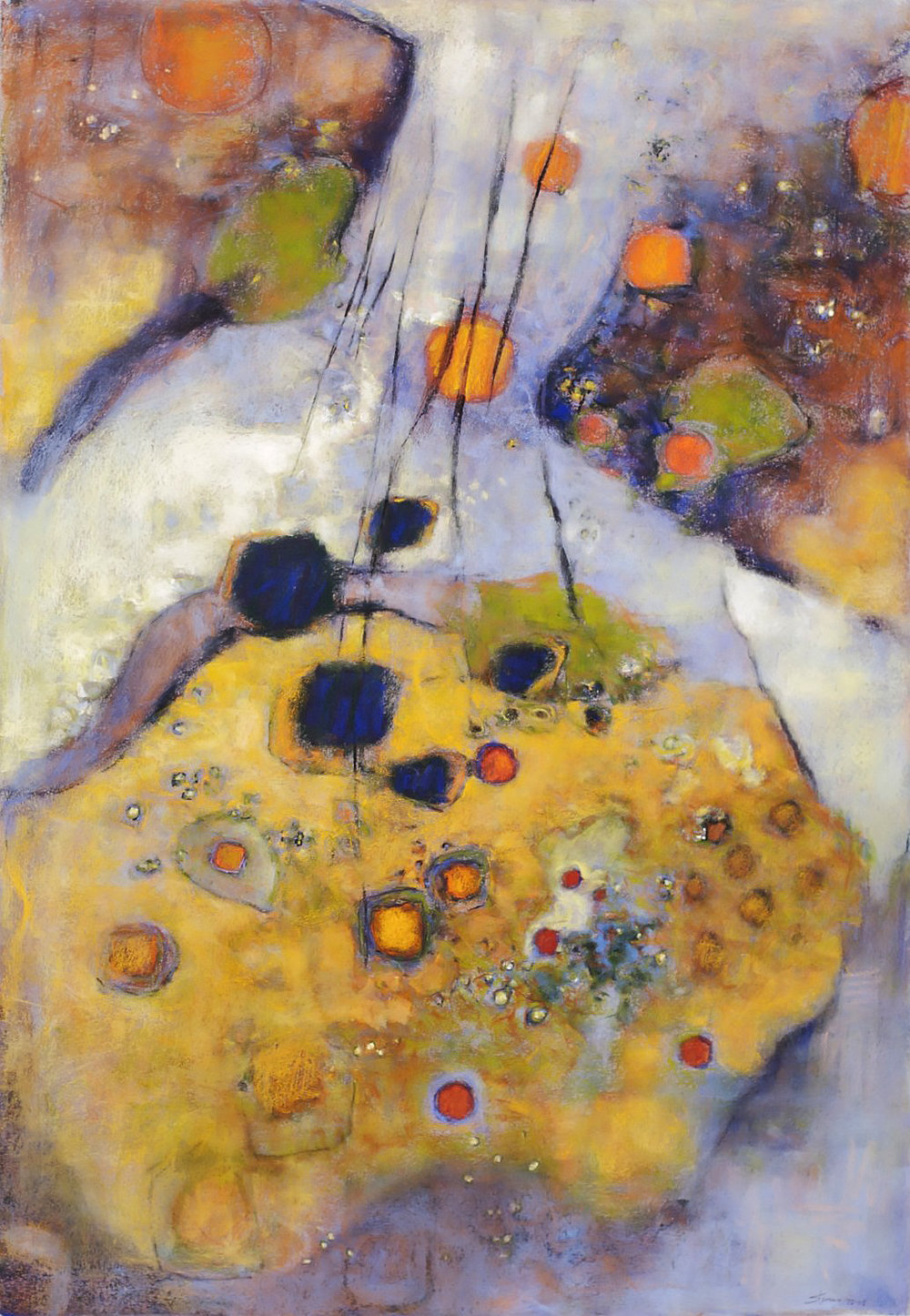 Earthsong | pastel on paper | 44 x 30"