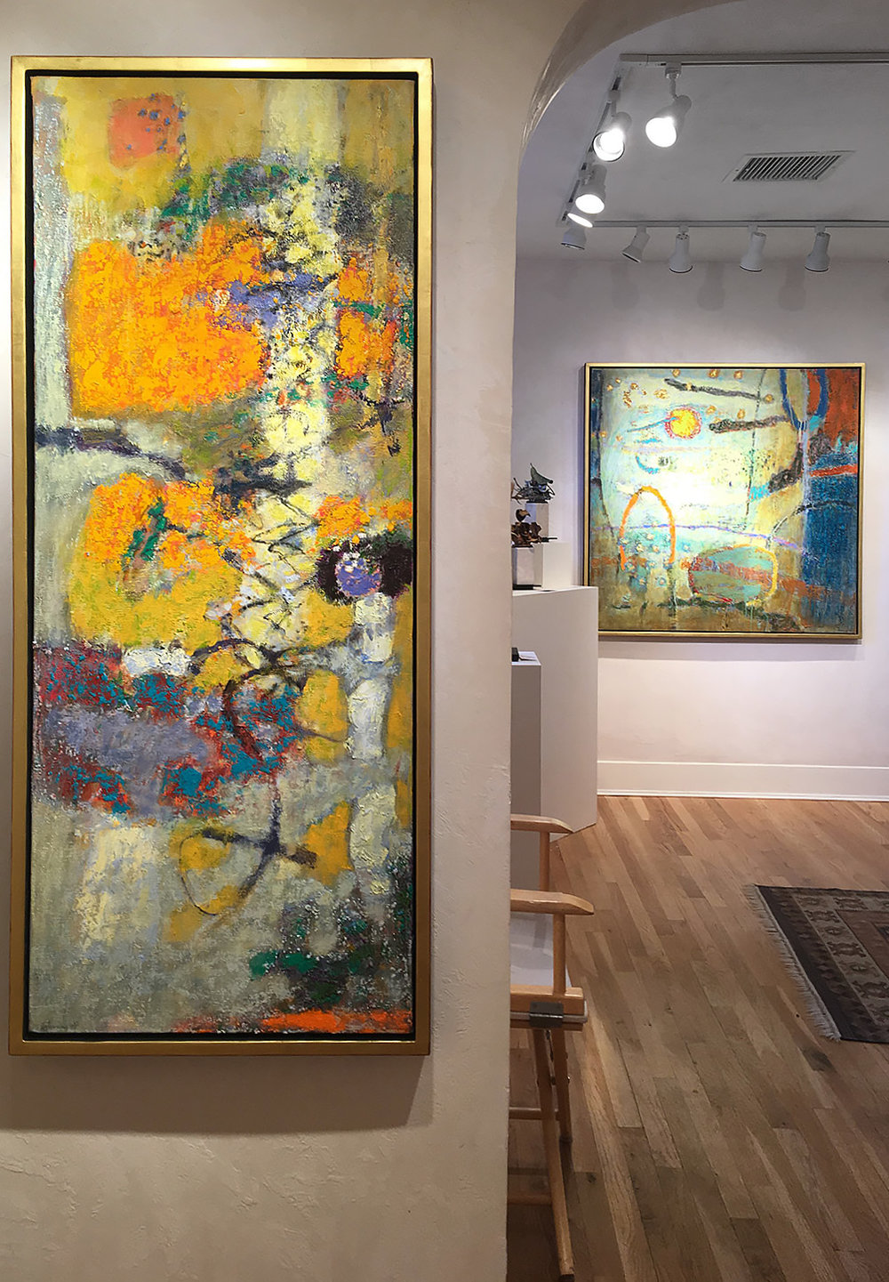two new paintings delivered to Junter Kirkland Contemporary in Santa Fe are now on display.