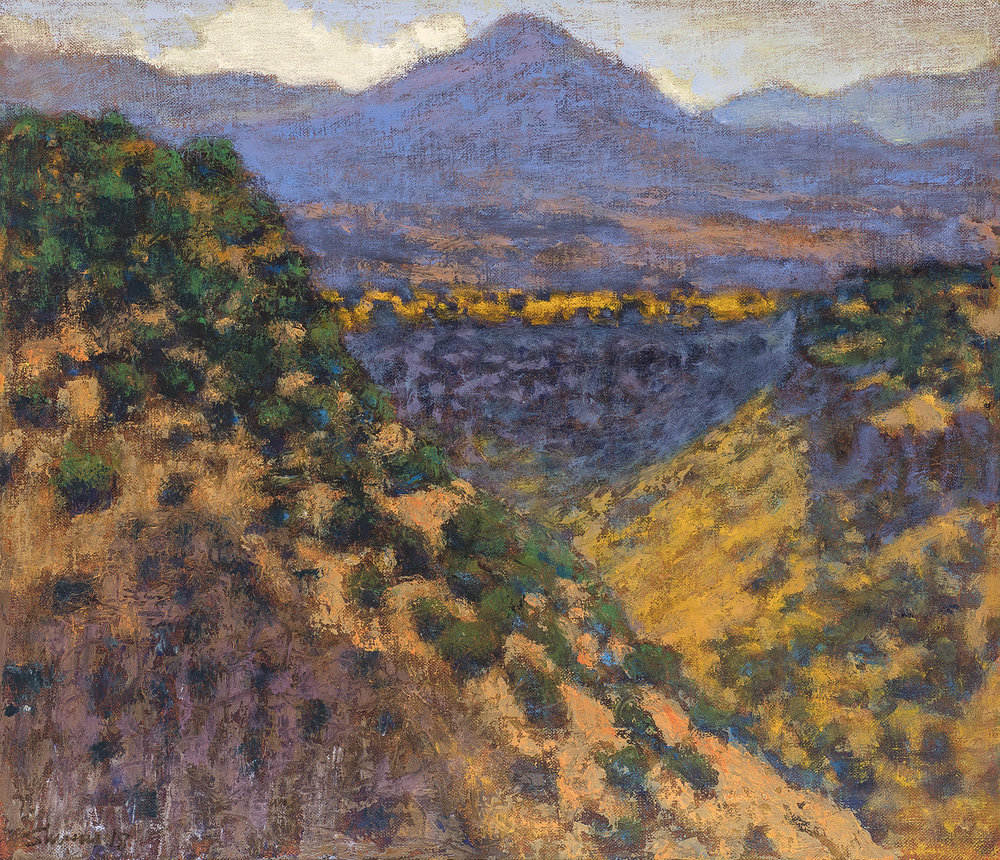 View From La Bajada Mesa  | oil on linen | 12 x 14"