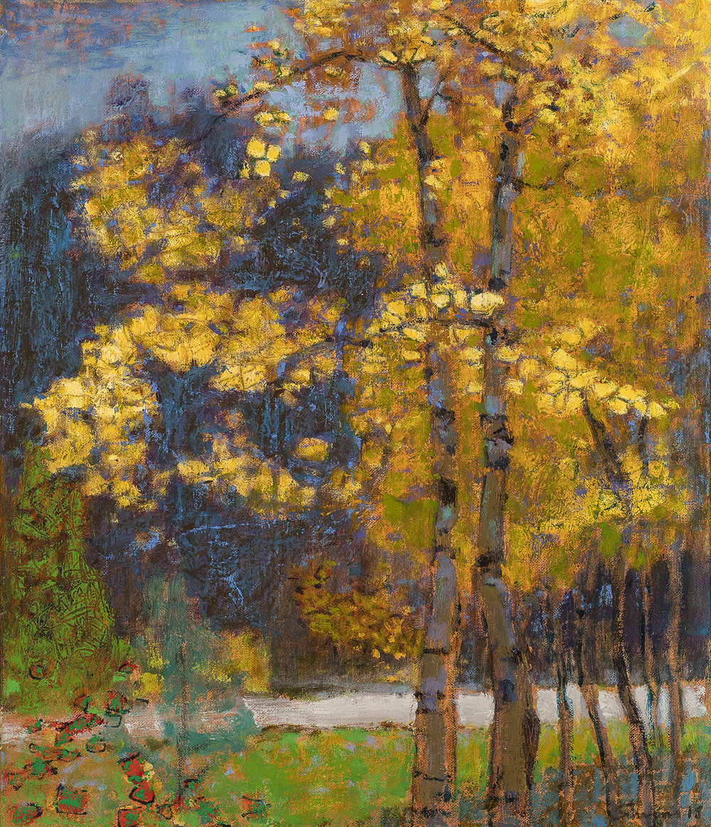 Quaking Yellow  | oil on linen | 14 x 12"