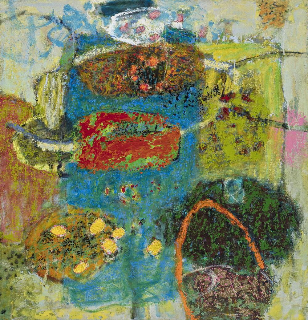"Circuitous   oil on canvas   36 x 35"""