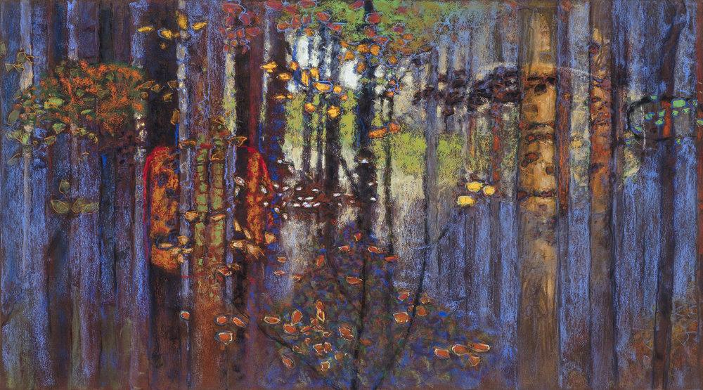 "Tree Spirits   pastel on paper   20 x 36"""