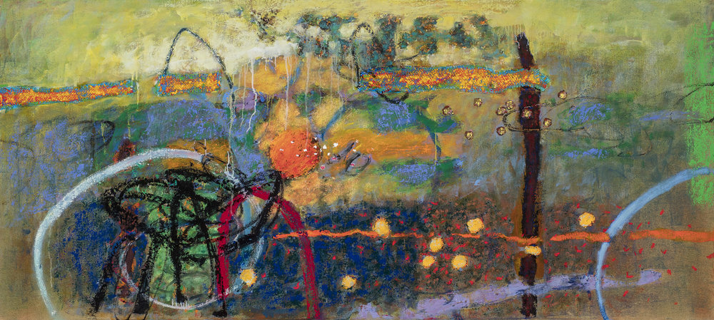 Threading Heaven and Earth | oil on canvas | 36 x 80"