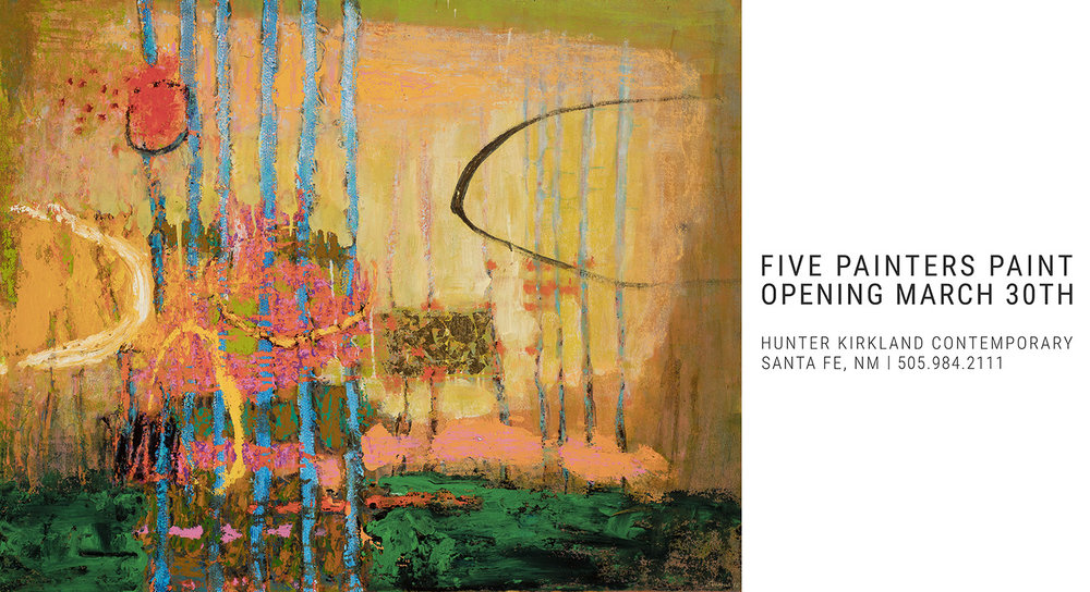 Rick will be  part of Hunter Kirkland Contemporaries Group show, opening this Friday in Santa Fe, NM