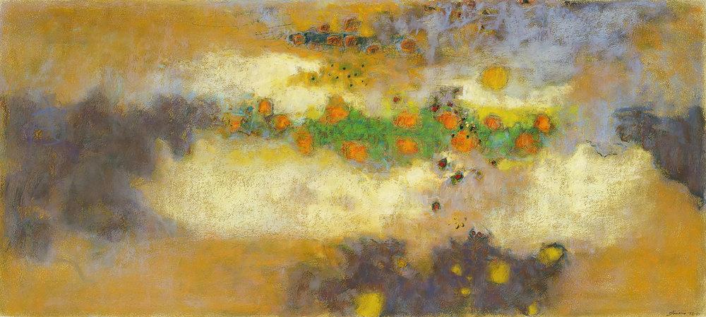 "The Unreachable Place  | pastel on paper | 18 x 40"" | 2010"