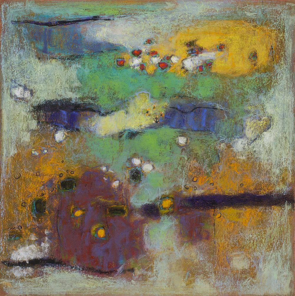 "19-14  | pastel on paper | 14 x 14"" | 2014"