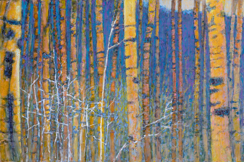 Aspen Vista, Winter | oil on canvas | 36 x 54""