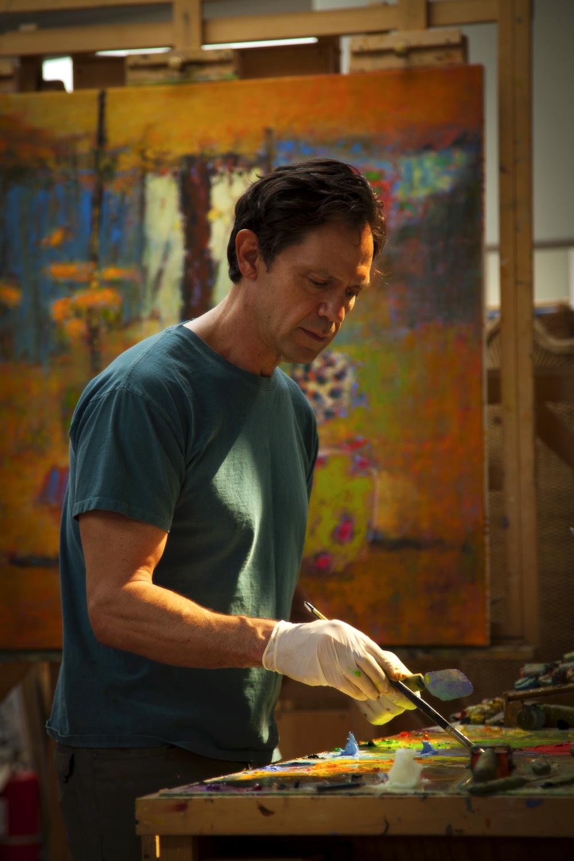 Rick Stevens at work in the studio