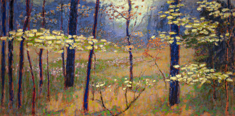 Wander  ing Into a Glade  | oil on canvas | 48 x 96"