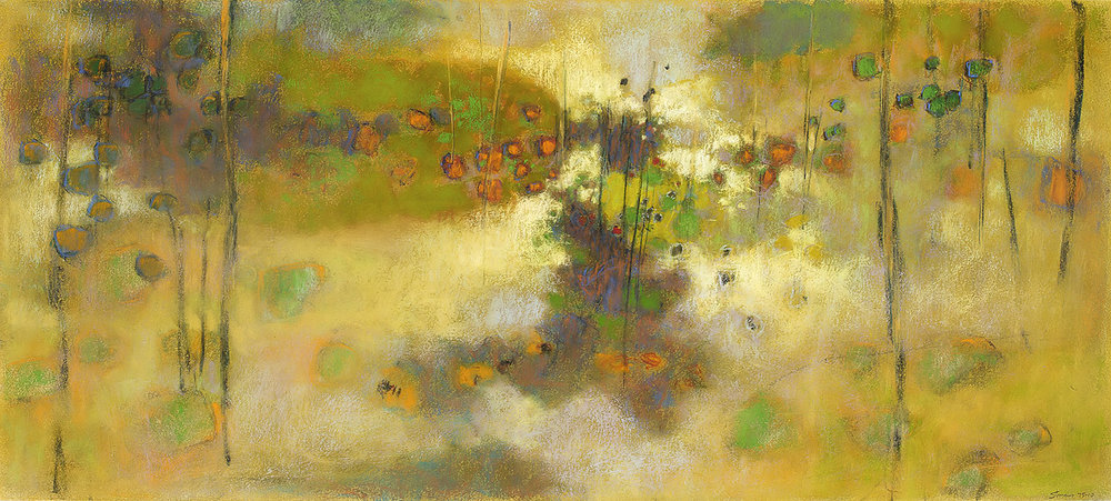 Against the Sky | pastel on paper | 18 x 40"